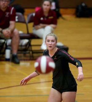 Kingston's Ava McCabe was an All-Olympic League middle blocker as a freshman before her coach asked her to switch positions to outside hitter as a sophomore. She's been all-league two more times at the new spot, and helped the Buccaneers make their first state tournament appearance last fall.