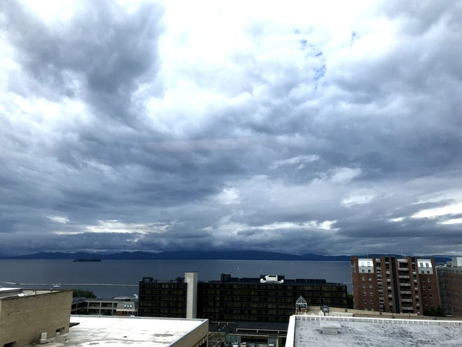 A cool front arrives from the northwest over Lake Champlain on Thursday, Sept. 6, 2018.