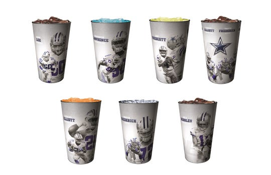 Six players will be featured on the 2018 Dallas Cowboys souvenir cup collection.