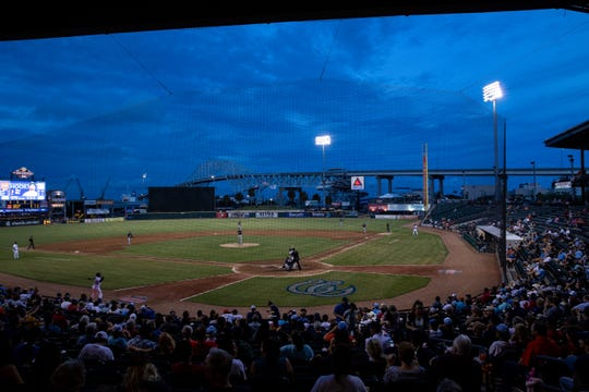 The Hooks play the Missions in the first Texas League South Division playoff game on Wednesday, Sept. 5, 2018.