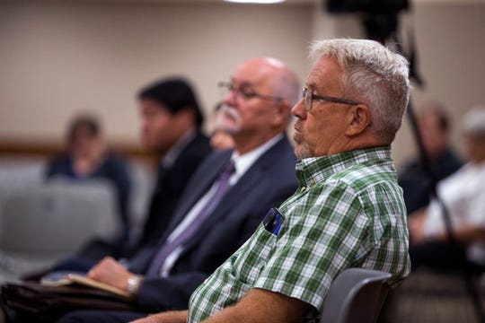 Dewey Magee, a witness for the Sierra Club, testified during a State Office of Administrative Hearings at the Nueces County Courthouse in a request by the Sierra Club to be included as an affected party in the air quality permit application for the proposed Exxon Mobile facility near Gregory. Their application, as well as the application of Texas Campaign for the Environment was approved during the hearing on Thursday, September 6, 2018.