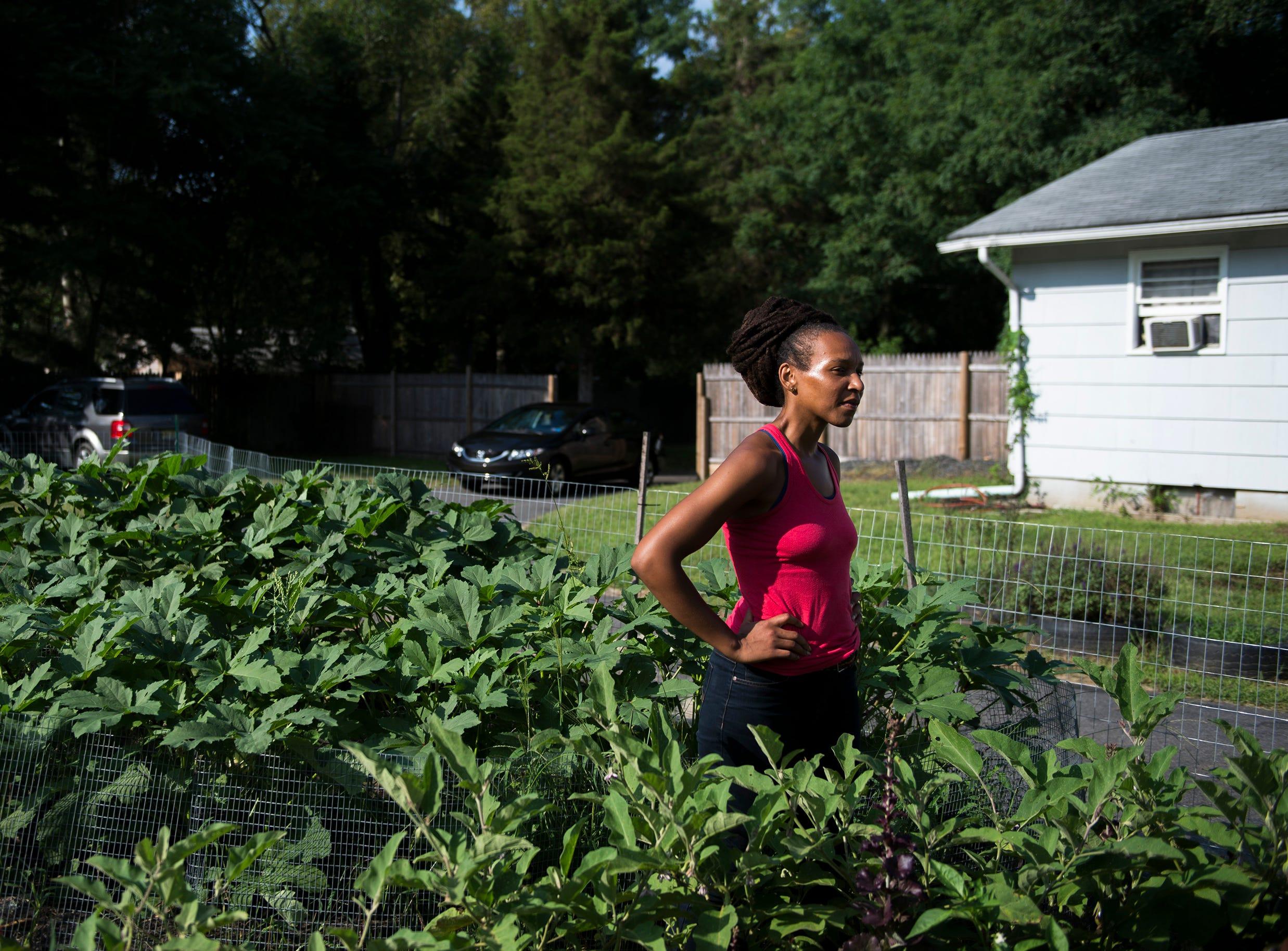 Dr. Cynthia Hall on her farm Thursday, Aug. 23, 2018 in Lawnside, N.J.