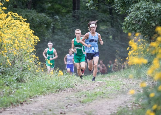 Adena's Emmitt Cunningham running Hopkins Farm in 2018. After an injury his junior year kept him from running, Adena senior Emmitt Cunningham wants to prove he can make state again and cement his place as one of the top long distance runners in the area.