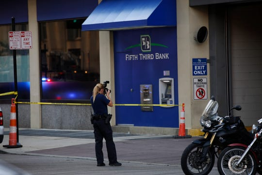 Scenes from an active shooter situation at Fifth Third downtown on Fountain Square on September 6, 2018.
