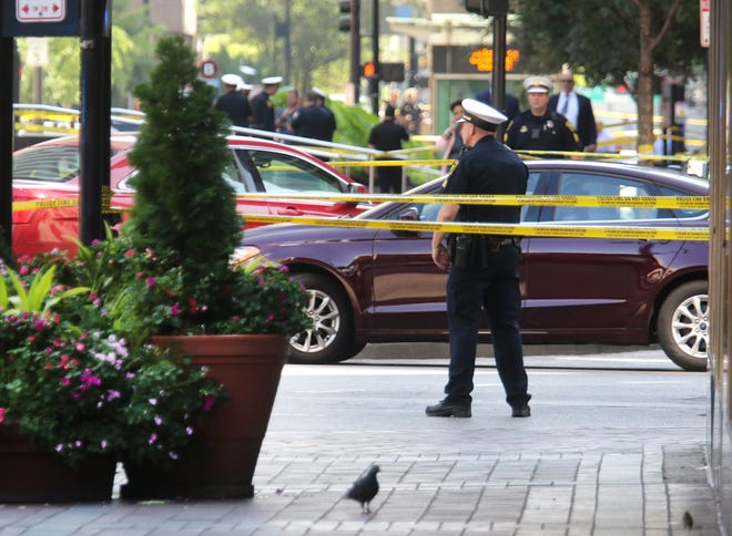 "FBI, Cincinnati police, fire and other emergency agencies respond to Fountain Square in downtown Cincinnati for an ""active shooter"" just after 9 a.m. Thursday. Police confirmed four dead, including the shooter and several injured."