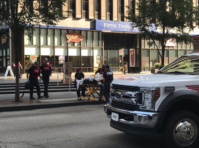 Scenes from an active shooter situation downtown on Sept. 6, 2018