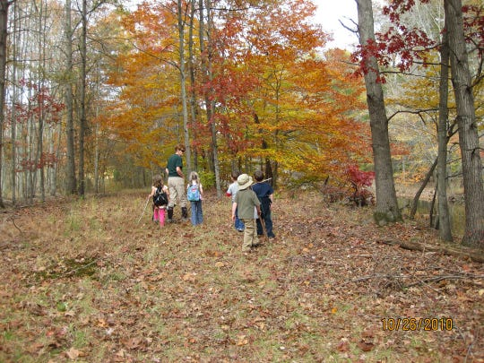 Tree House Gang participants enjoy a Naturalist led walk in Lord Stirling Park. The afternoon classes run from 12:45to 3:15 P.M.and are offered on Tuesdays, Sept.11, 18, and 25.