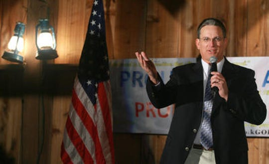 Sen. Jerry Behn during a Republican forum put on by the Polk County Republicans at Living History Farms in 2009