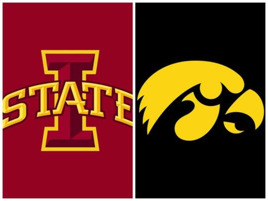 Iowa State, University of Iowa logos