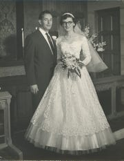 Richard and Helen DeVos on their wedding day.