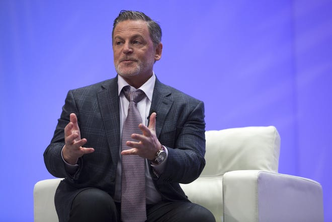 Dan Gilbert, owner of Quicken Loans and the Cleveland Cavaliers, speaks with Bloomberg's Betty Liu on Sunday, Jan. 8, 2017 at the North American International Auto Show at Cobo Center in downtown Detroit.