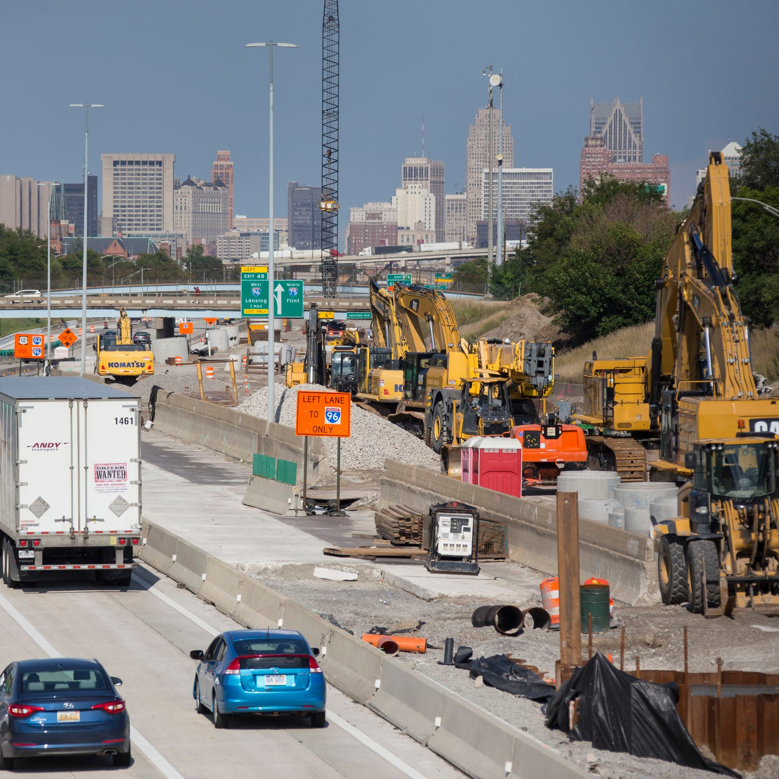 You finally can drive south on I-75 from Detroit