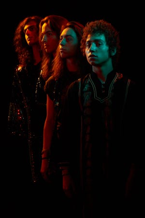 Michigan rock band Greta Van Fleet, from left: Danny Wagner, Sam Kiszka, Jake Kiszka, Josh Kiszka