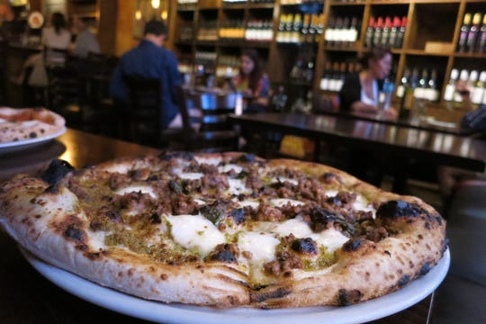The Neapolitan-style pizzas at Pizza e Vino in downtown Plymouth.