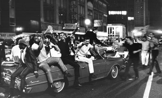 Detroit was a color-blind Camelot after the Detroit Tigers won the American League pennant, as blacks and whites mingled in joy, thousands strong, on the streets of downtown.