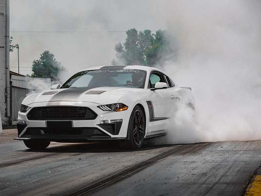 Put down 710 horsepower through the rear tires and they. Will. Spin. The 2018 Roush JackHammer Mustang.