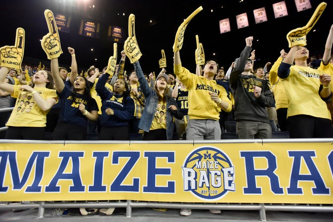 The Maize Rage student section