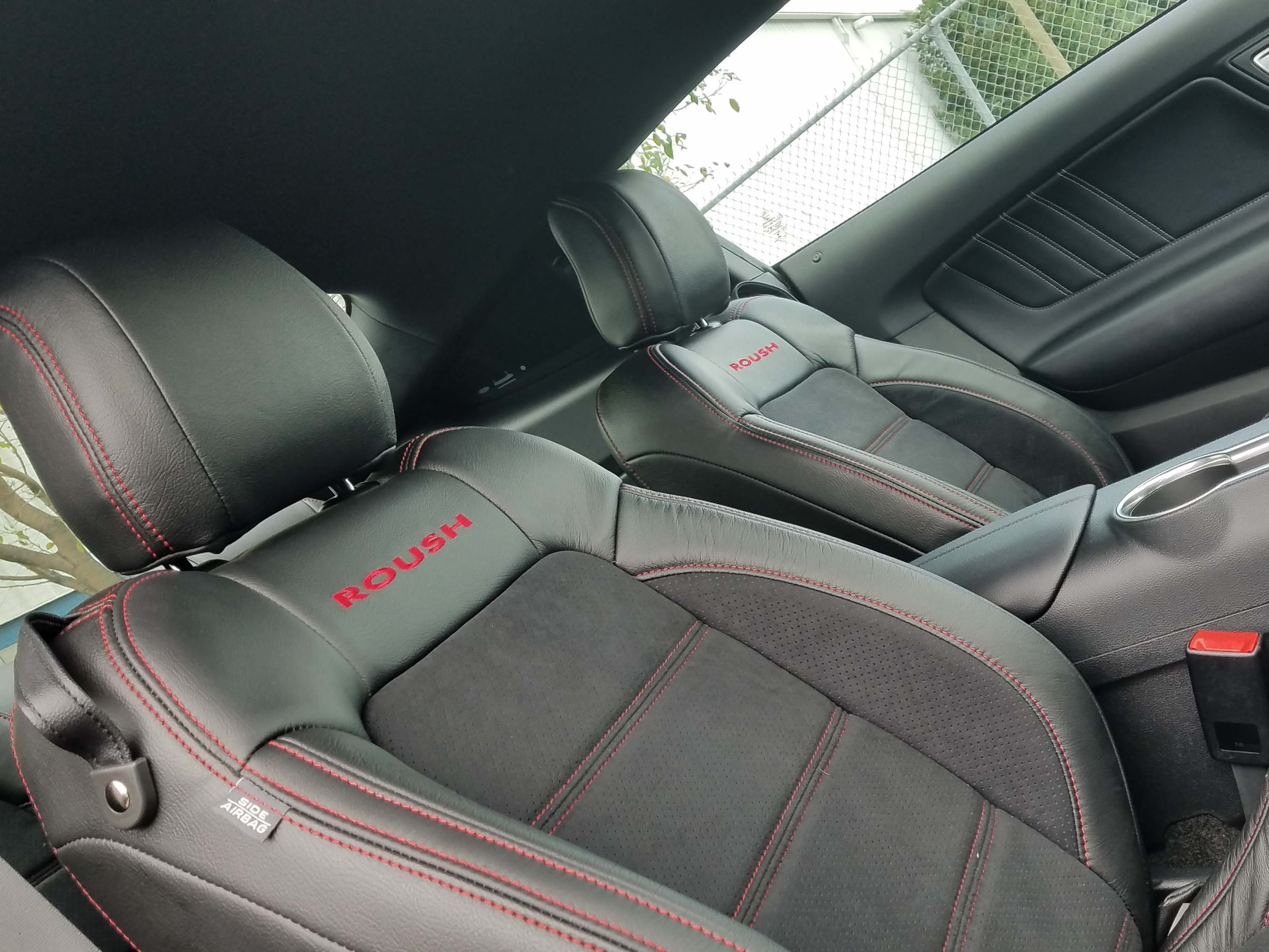 The 2018 Roush Jackhammer Mustang is available with Roush-badge seating.