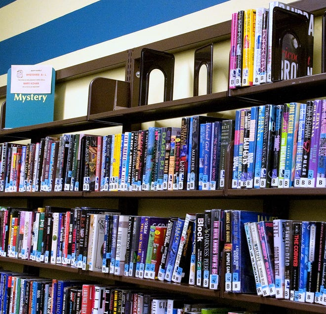Stacks of books line the shelves at the Horseheads Free Library.
