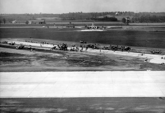 WPA workers build a runway at Evansville Airport in 1939.