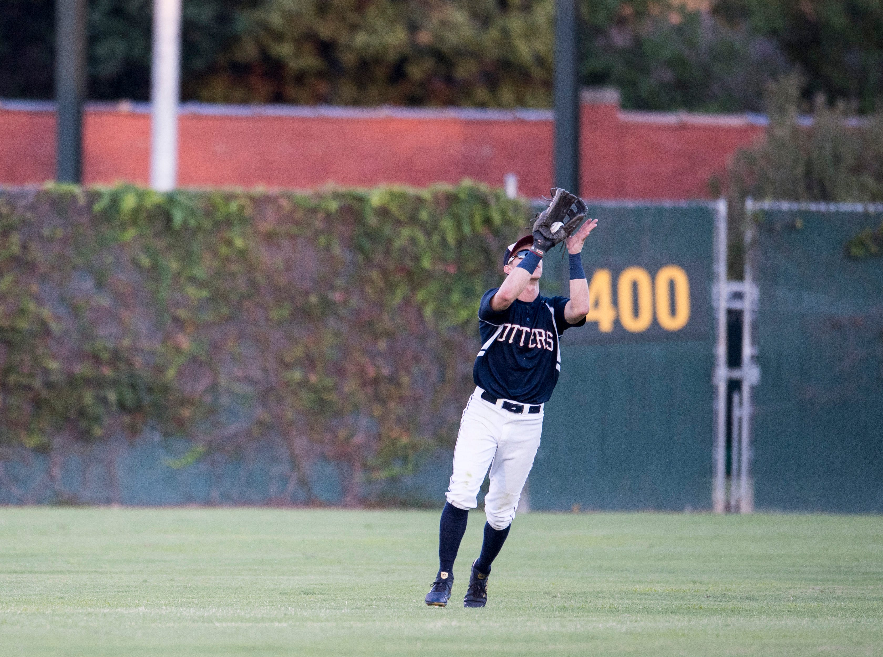 Evansville's Hunter Cullen (43) catches a pop fly during game two of the Frontier League Division Series at Bosse Field against the Washington Wild Things Wednesday, September 5, 2018.