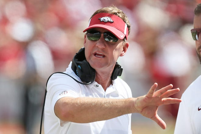 Chad Morris won his first game as Arkansas' head coach Saturday when the Razorbacks beat Eastern Illinois 55-20. Morris and CSU coach Mike Bobo have battled each other twice before, when both were offensive coordinators -- Morris at Clemson and Bobo at Georgia.