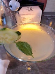 The Jac features a full bar of thoughtfully made cocktails, including this cucumber martini made with lemon-infused simple syrup and organic cucumber vodka.