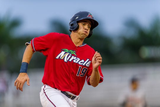 Minnesota Twins prospect Alex Kirilloff hustles in leading the Fort Myers Miracle to the Florida State League championship series.