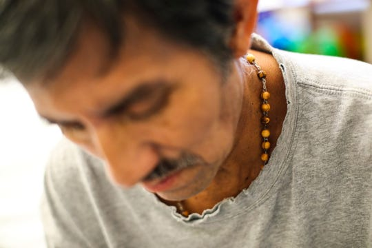 Rafael CruzHernandez wears a rosary around his neck. An east Lee County woman, Ana Rosa Cruz de Hernandez, was killed, and three members of her family - Rafael C. Hernandez, her husband, and their daughters Mariela Hernandez Cruz and Miriam Hernandez Cruz were injured in a two-car crash on a Sunday in April 2018 a block from their home as they returned from celebrating Mariela Hernandez Cruz's graduation from college. Their son Rafael Hernandez Cruz  was not in the car. Their father is in the care of Promise Hospital in Fort Myers as he is recovering. The family is hoping he will be released any day now because he is improving. Rafael will still need home care.