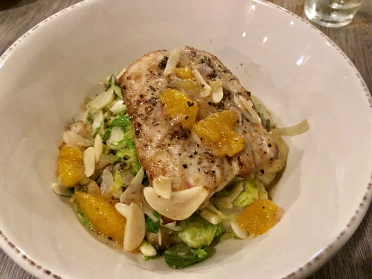 The Jac's pan-seared mahi is a dish that's been thought through from the sweet flaky mahi at the top to the puffy, lithe gnocchi hidden at the bottom.
