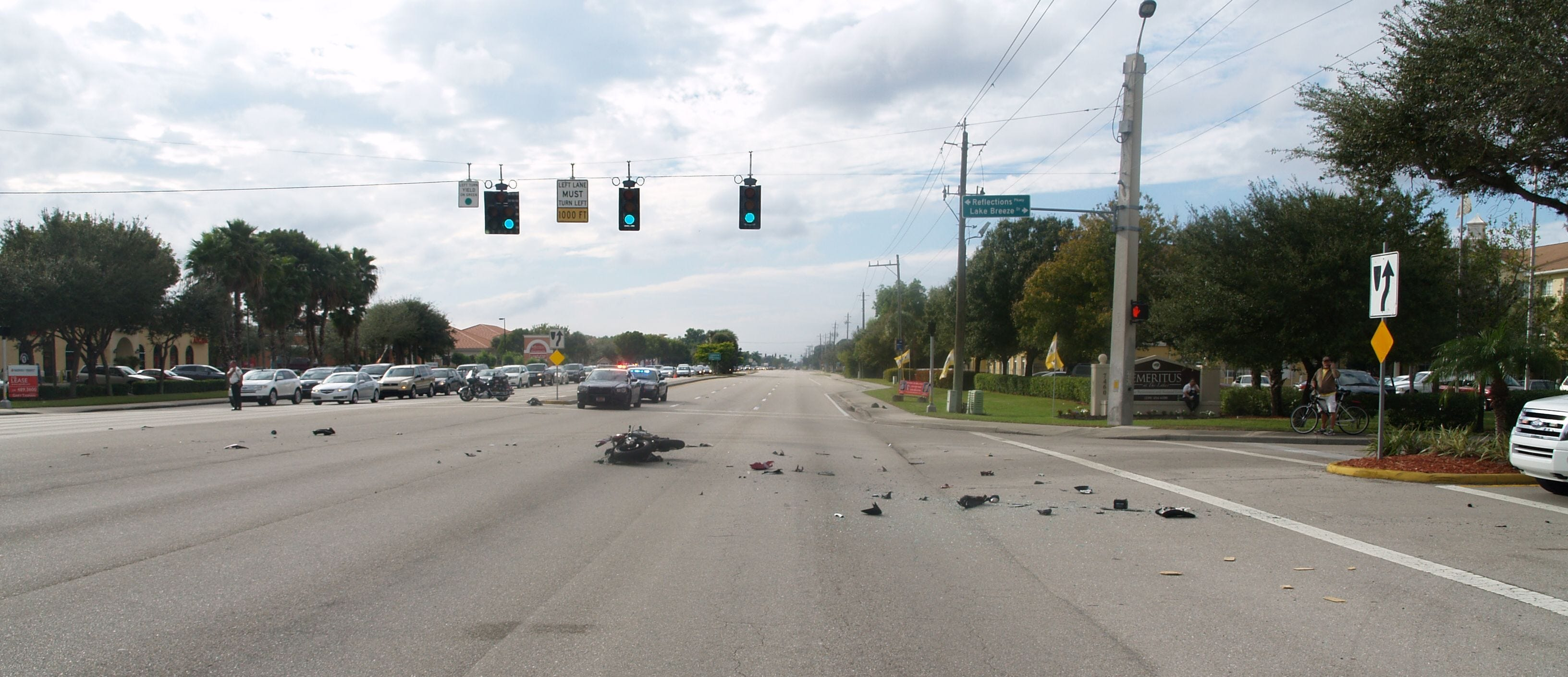 The scene from the Jan. 9, 2014 crash that killed 17-year-old Sean Parke.
