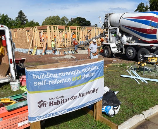 The Home Build at 827 N. 6th Place, Sturgeon Bay, is the largest house for Door County Habitat for Humanity. The 41st house includes the first poured basement for the build as well.