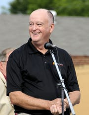 Mauldin Mayor Dennis Raines speaks at an event in August 2013.