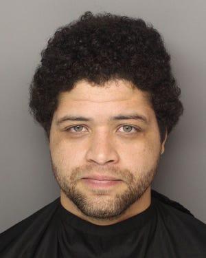 A 2014 mugshot of Omar Enrique Santa Perez in Greenville.