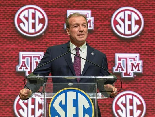 Jimbo Fisher at his introductory press conference at Texas A&M.