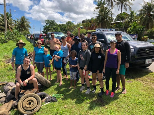 United States Coast Guard Cutter Kiska hosted a Labor Day cleanup in Agat. Members from Station Apra Harbor, USCGC Sequoia, family and friends also attended.