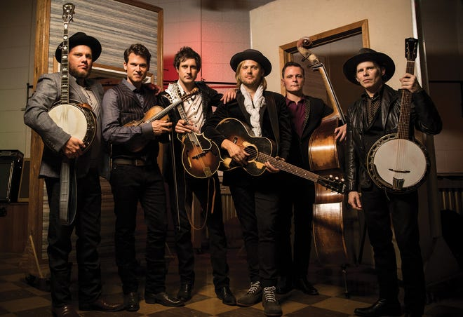 Old-time string band Old Crow Medicine Show kicks off the 2018-19 Henderson Area Arts Alliance season at 7:30 p.m. this Saturday. Upright bassist Morgan Jahnig, interviewed for this story, is second from right.