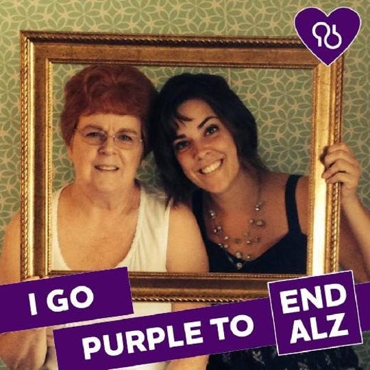 Sarah Bradley and her mother, who was diagnosed with Alzheimer's.