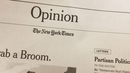 The New York Times opinion banner