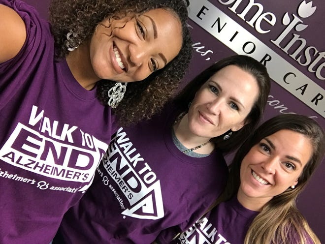 The Walk to End Alzheimer's is one of the largest – and most impactful – fundraising events in service of Alzheimer's care and research. Participants like Sarah Bradley, far right, help lead the way.
