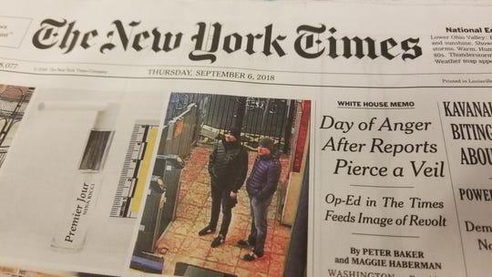 the front page of the national edition of the new york times on sept 6