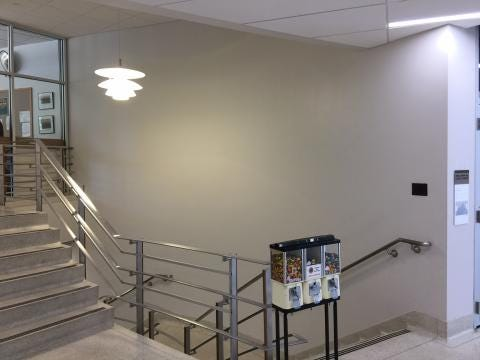 The lobby was remodeled at City Hall and now the city is putting some money towards filling one of the walls.