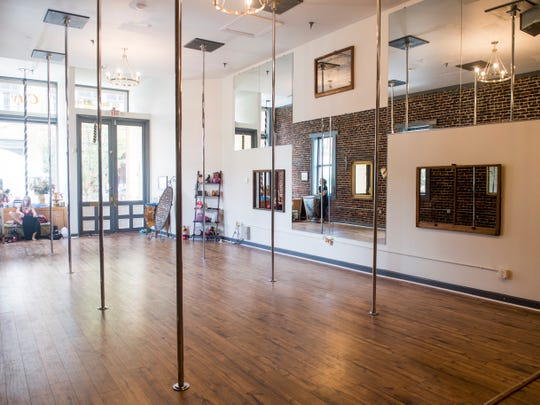 Inside Sheer Inspiration Pole Fitness at 121 W. Jackson Ave. in the Old City.