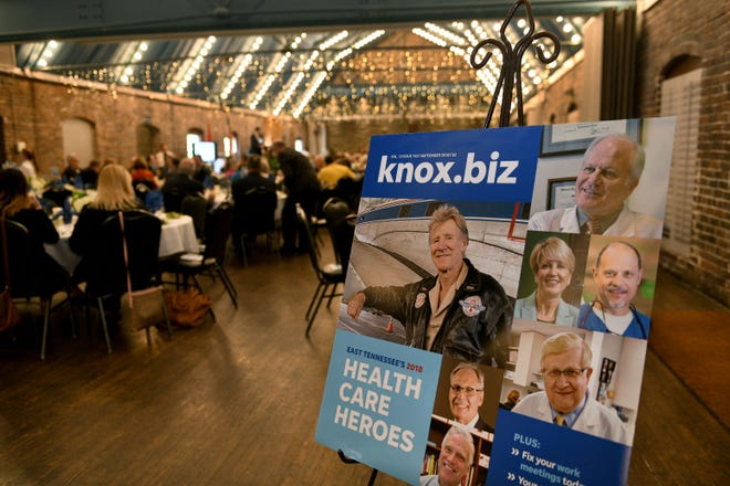 More than 300 people gather for the Knox.biz Health Care Heroes luncheon Thursday, Sept. 6, 2018, at the Foundry.