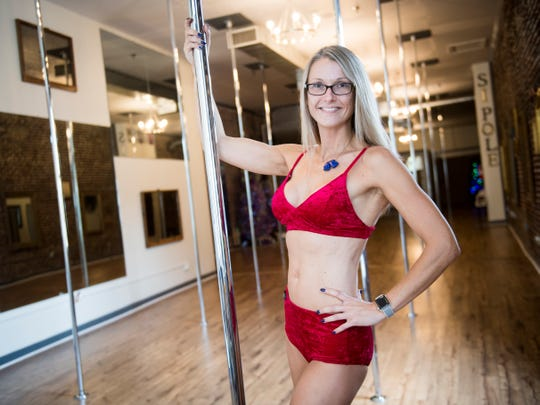 Natasha Fine is the owner and lead instructor of Sheer Inspiration Pole Fitness at 121 W. Jackson St. in the Old City.