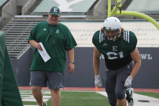 West Lafayette native Ben Needham is in his first season as the defensive line coach at Eastern Michigan