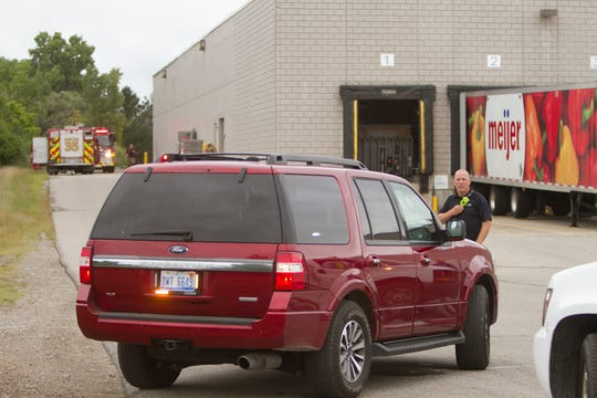 Brighton Area Fire Authority personnel and Brighton police evacuated the Brighton Meijer store Thursday, Sept. 6, 2018 due to a gas leak.