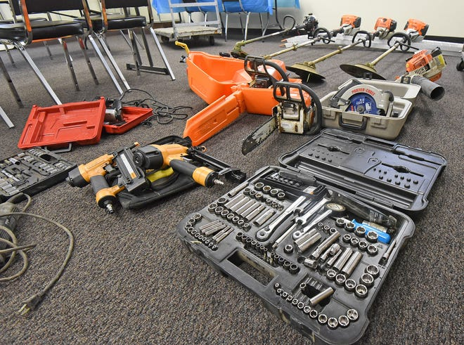Some of the stolen items recovered by law enforcement around the county.