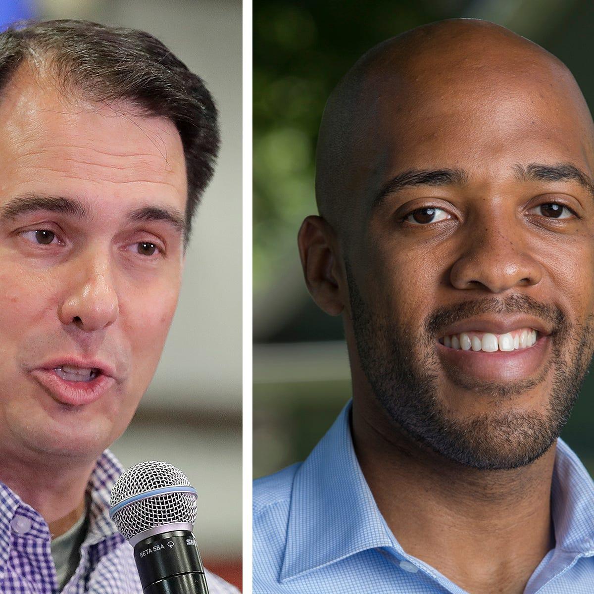 Twitter fight: Scott Walker, Mandela Barnes battle over NFL protests, military service