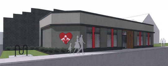 A big heart will guide people to Father Gene's HELP Center, 5919 W. National Ave., as seen in this artist rendering.